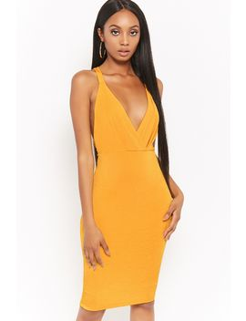 Crisscross Back Surplice Dress by F21 Contemporary