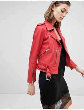 All Saints Belted Leather Jacket by All Saints