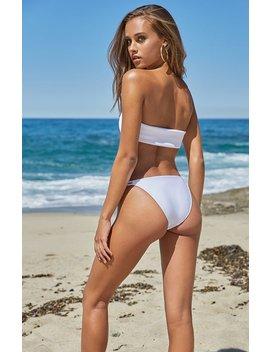 Smocked Bandeau Bikini Top by La Hearts