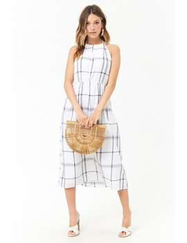 Plaid Halter Midi Dress by Forever 21