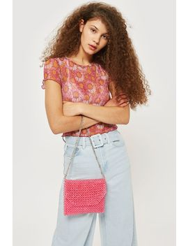 Beaded Shoulder Bag by Topshop