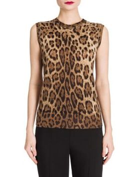 Leopard Print Shell Top by Dolce & Gabbana