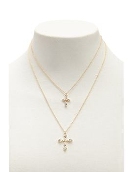 Layered Cross Pendant Necklace by F21 Contemporary