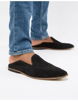 Asos Design Loafers In Black Suede With Collapsable Back by Asos Design