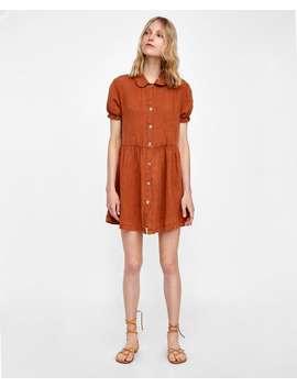 short-linen-dress--dressessale-woman by zara