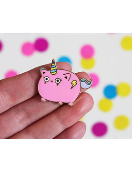Unicat Enamel Pin, Unicorn Enamel Pin Badge, Caticorn, Unicorn Brooch, Cute Enamel Pin, Cat Brooch, Hard Enamel Pin, Metal Pin, Magical Pin by Etsy