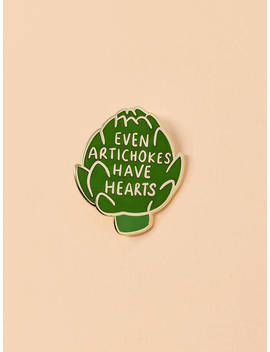 Artichoke Enamel Pin | Vegetable Pin, Lapel Pin, Hard Enamel, Food Enamel Pin, Amelie Pin, Even Artichokes Have Hearts Pin by Etsy