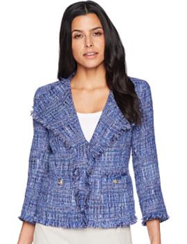 Tweed Flyaway Jacket by Anne Klein