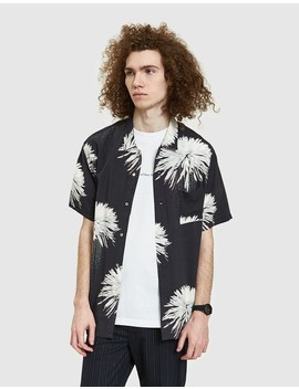 Space Junk Hawaiian Shirt In Black/White by Need Supply Co.