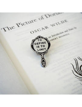The Picture Of Dorian Gray Enamel Pin   Oscar Wilde Enamel Pin Badge    Gothic Literature Collection   Book Lover   Looking Glass Pin by Etsy