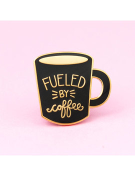 Coffee Enamel Pin   Cute Enamel Mug Pin | Hat Badge | Hygge Pin by Etsy