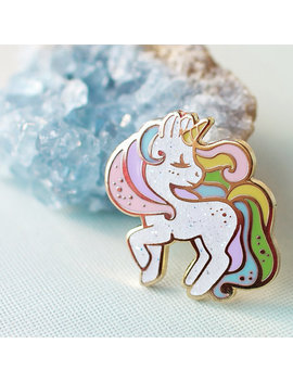 Unicorn Rainbow Pastel Hard Enamel Pin by Etsy