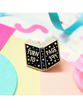 Turn To Page 394 Enamel Pin. Enamel Pin. Book Pin. Witchcraft And Wizardry. Book Lover. Bookworm. Literary Pin. Bookish Pin. Magic Pin. Read by Etsy