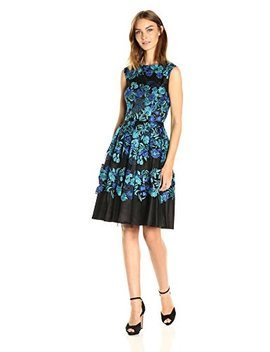 Tahari By Arthur S. Levine Women's Cap Sleeve Emb Lace Fit And Flare by Tahari By Arthur S. Levine