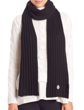 Ribbed Wool Scarf by Moncler