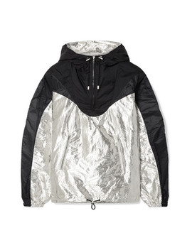 Richie Hooded Two Tone Metallic Shell Jacket by Isabel Marant
