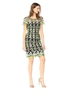 Tahari By Arthur S. Levine Women's Embroidered Mesh Dress by Tahari By Arthur S. Levine