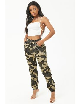 Camo Print Cargo Pants by Forever 21