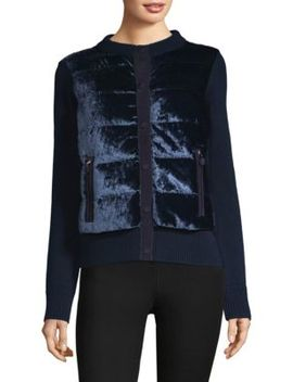 Maglione Quilted Velvet Jacket by Moncler