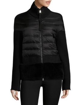 Maglione Fur Panel Jacket by Moncler