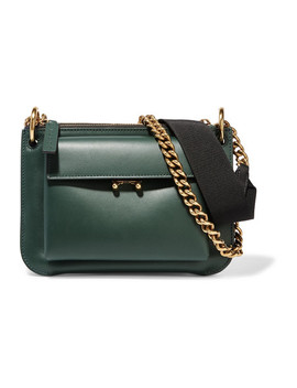 Pocket Two Tone Leather Shoulder Bag by Marni