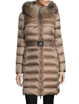 Tinuviel Removable Fox Fur Puffer Coat by Moncler