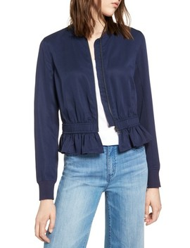 Ruffle Hem Zip Front Jacket by Halogen®