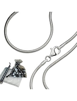 "Carolina Meyer® 925 Solid Sterling Silver Snake Chain 1mm Thickness: 14"" 40"" Length ,With Lobster Clasp by Amazon"
