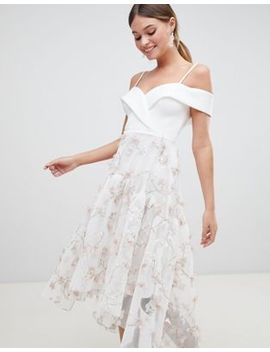 Asos Design Premium 3d Floral Prom Dress by Asos Design