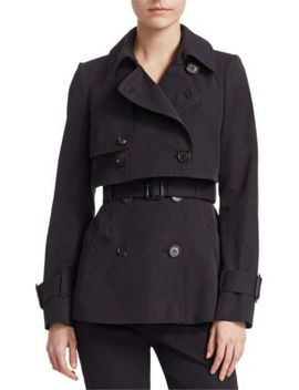 Patch Trench Coat by Alexander Mc Queen