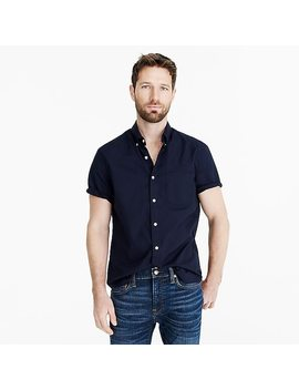 Short Sleeve Stretch Garment Dyed Secret Wash Shirt by J.Crew