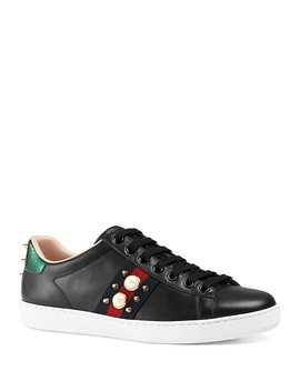Women's New Ace Lace Up Sneakers by Gucci