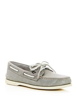 Men's Authentic Original Two Eye Leather Boat Shoes by Sperry