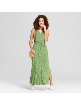 Women's Printed Maxi Dress   A New Day™ Green/White by A New Day™