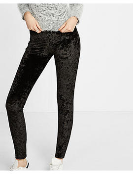 Black Velvet Legging by Express