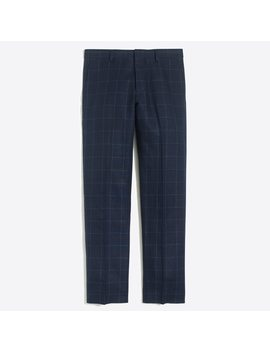 Slim Fit Thompson Suit Pant In Linen Cotton Windowpane by J.Crew