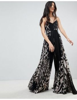 Religion Saturn Jumpsuit In Dark Leopard Print by Religion