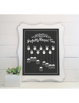 Perfectly Steeped Tea: An Illustrated Guide   Print   Chalkboard, Sign, Decor, Tea Art, Guide To Tea, Make Tea, Tea Lover Gift, by Etsy