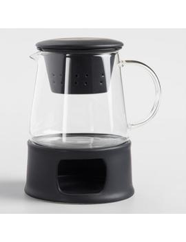 Matte Black Ceramic Infuser Teapot With Stand by World Market