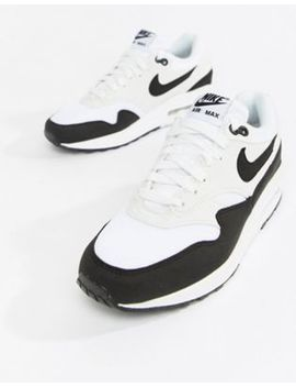 Nike Air Max 1 Trainers In White And Black by Nike