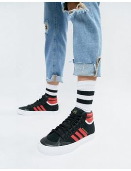 Adidas Originals Matchcourt High Rx2 Trainers In Black by Adidas