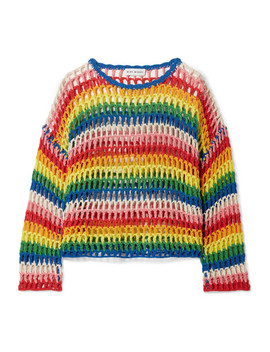 Striped Crocheted Cotton Sweater by Mira Mikati