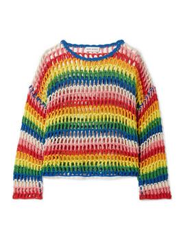 Striped Crocheted Cotton Sweater by Mira Mikati