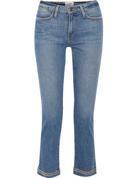 Le High Studded Cropped Straight Leg Jeans by Frame