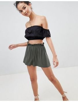 Asos Design Shorts With Paperbag Waist by Asos Design