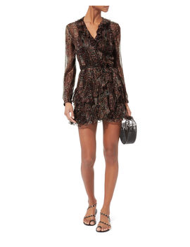 Giala Paisley Wrap Dress by Iro