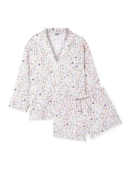 Marina And Paloma Printed Cotton Poplin Pajama Set by Sleepy Jones