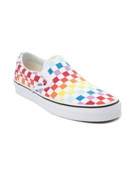Vans Slip On Rainbow Chex Skate Shoe by Vans
