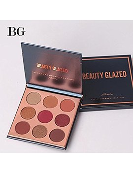 Beauty Glzaed Pro Beauty 9 Colors Makeup Powder Matte Eye Shadow Palette Highly Glitter Shimmer Pigmented Mineral Cosmetic Eyeshadow by Amazon
