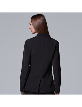 Women's Simply Vera Vera Wang Notch Collar Blazer by Kohl's